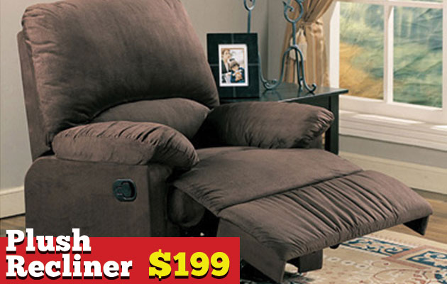 Plush Recliner Scrolling Banner