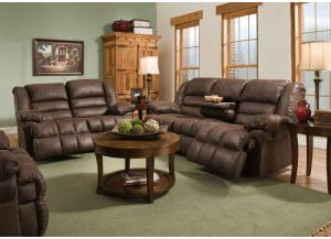 50412 Double Motion Sofa w/ Table and Dbl Motion Gliding Loveseat Lattimer Cocoa