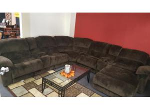 Chocolate Reclining Sectional