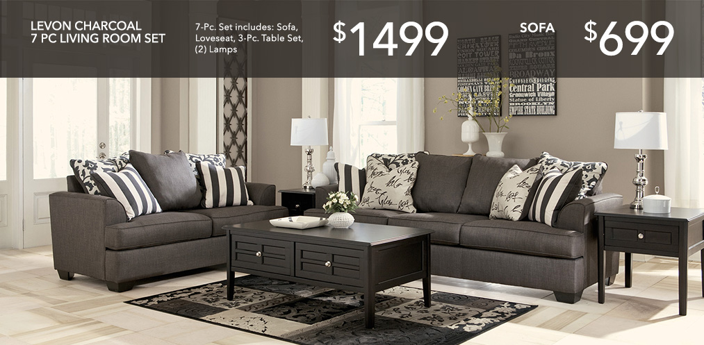 Levon Sofa Loveseat Set