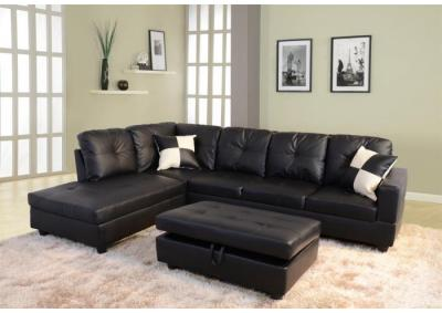 Beverly Black Sectional