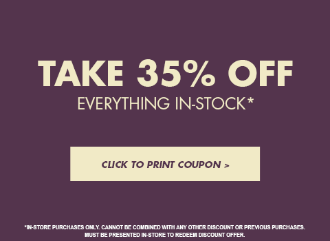 35% Off In-Store Purchases