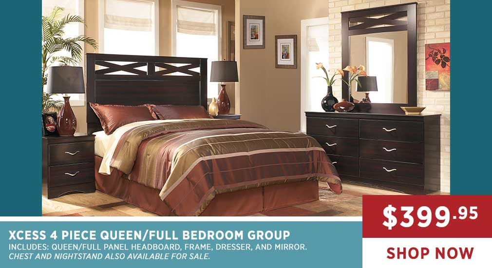 XCESS 4 PIECE QUEEN/FULL BEDROOM GROUP