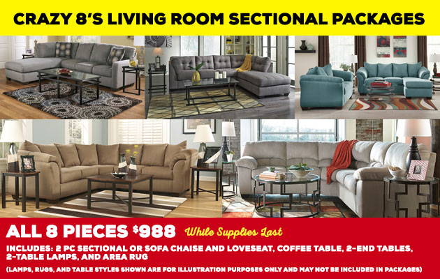 Affordable Furniture To Go Living Room Sectional Packages