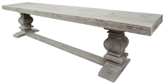 Urban Industrial 7ft. Dining Bench in Toscano Grey,Texas Rustic