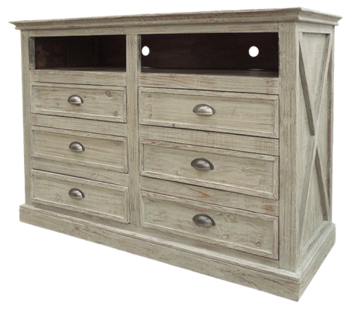 Alabama Furniture Market Urban New York Media Chest In Tuscano Grey