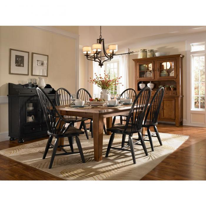 Attic Heirlooms Natural Oak 7-piece Dining Set