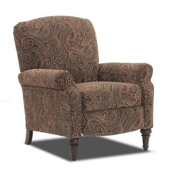 Alabama Furniture Market Claire Classic Paisley High Leg Recliner