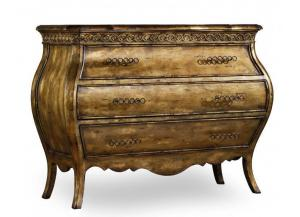 Sanctuary Three-Drawer Bombe Nightstand,Hooker Furniture