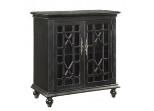 Edwardsville Texture Black 2 Door Cabinet