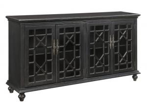 Edwardsville Texture Black Media Credenza