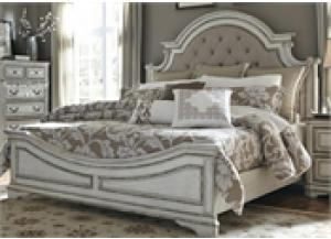 Magnolia Manor King Upholstered Bed,Liberty Furniture