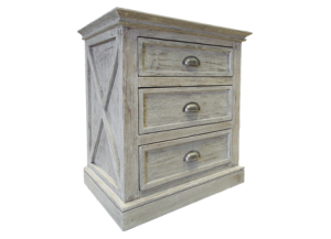 Urban New York Nightstand in Toscano Grey,Texas Rustic