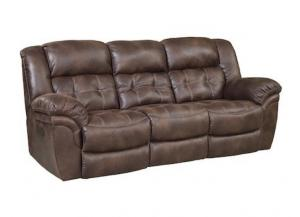Frontier Espresso Reclining Sofa,HomeStretch