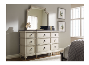 Brookhaven Dresser and Mirror,Legacy Classic