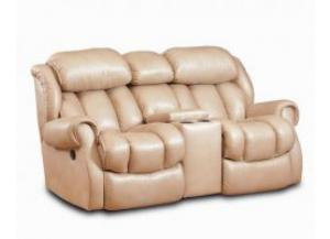 Cody Taupe Reclining Loveseat with Console