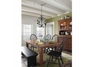 Attic Heirlooms Natural Oak 6-piece Dining Set with Bench