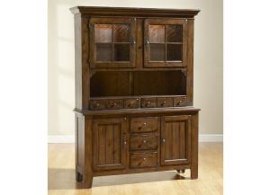 Attic Heirlooms Rustic Oak China Cabinet