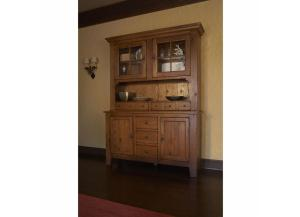 Attic Heirlooms Natural Oak China Cabinet