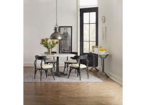 Studio 7H Round Pedestal Table With Four Bow Back Chairs