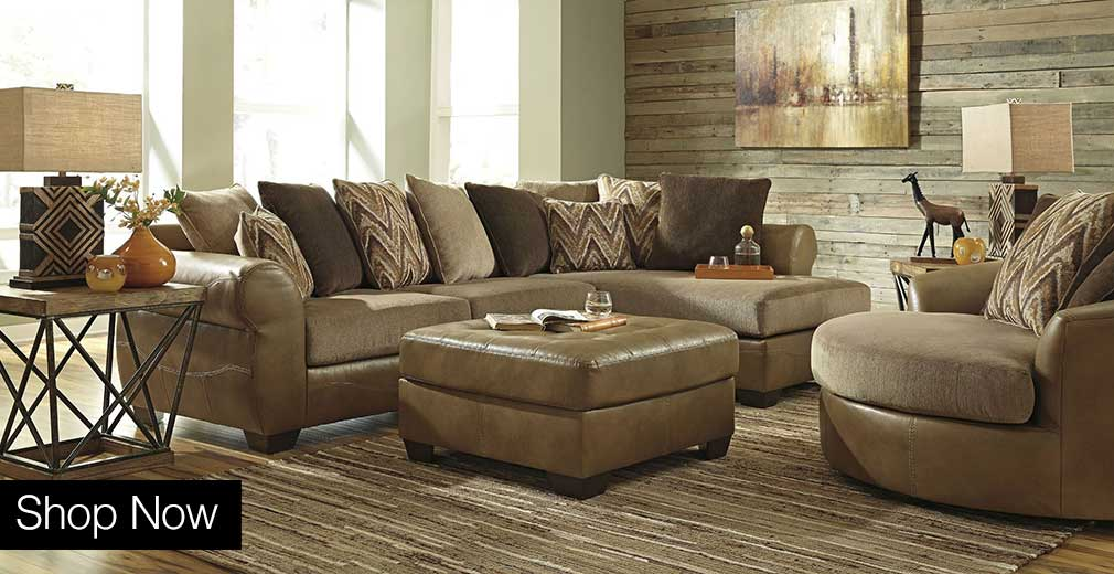 Declain Sand Sectional w/ Right Facing Corner Chaise