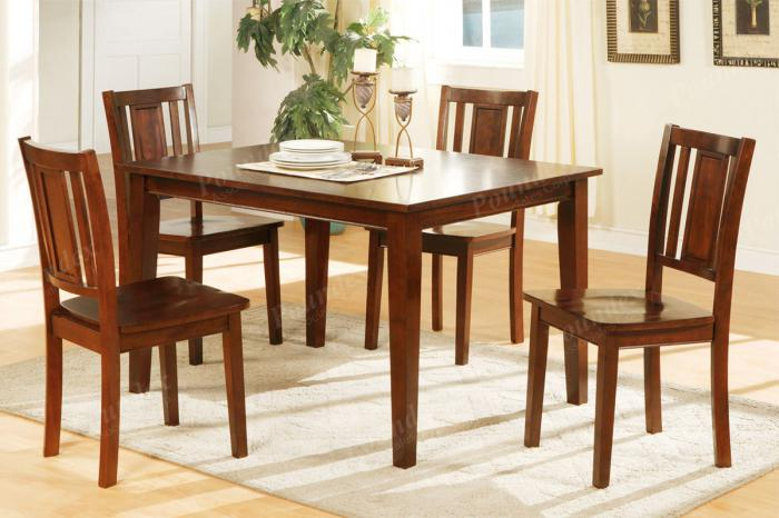F2249 5 piece dining set package includes 4 chairs ,MEK IMPORTS