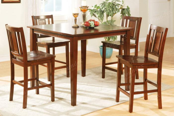 F2254 5 piece dining set package includes 4 chairs,MEK IMPORTS