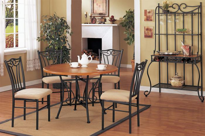F2043 5 piece dining set package includes 4 chairs with optional wine rack,MEK IMPORTS