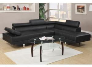 F7310 2 piece sectional sofa with tilting headrest