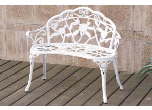 P50103 White bench cast aluminum/iron