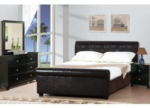 F9313 Full Bed with Underbed drawer, dresser, mirror and nightstand (slats included)