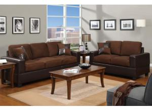 F7591 2 piece sofa set with accent pillows