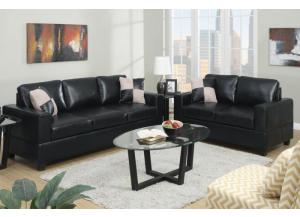 F7598 2 piece sofa set with accent pillows