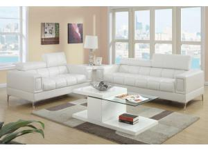 F7240 2 piece sofa set with tilting headrests