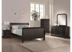 CM 3900 5 pc black Q Bedroom