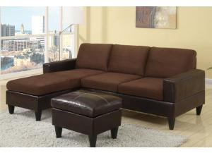 F7291 All-in-one sectional with ottoman