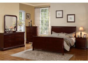 F9231 Queen Bed with dresser, mirror, nightstand and chest