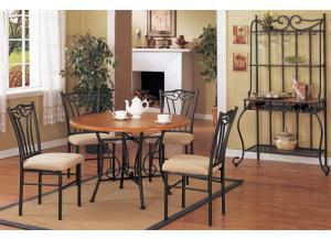 F2043 5 piece dining set package includes 4 chairs with optional wine rack