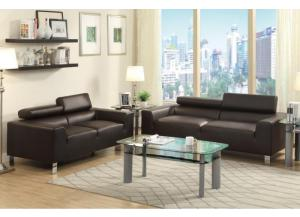 F7264 2 piece sofa set with tilting headrests