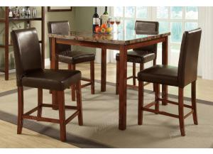 F2542 5 piece dining set package includes 4 chairs