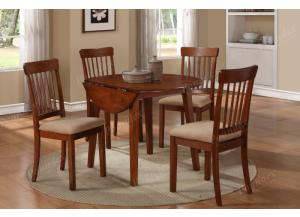 F2073 5 piece drop leaf dining set package includes 4 chairs