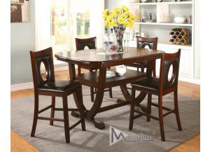 Oracle 5PC SET: Counter Table And 4 Chairs