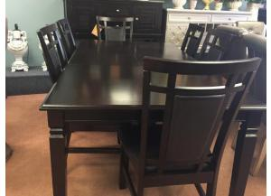 BEV 7PC SET: Table and 6 Side Chairs