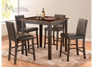 Market St 5PC SET: Counter Table And 4 Chairs
