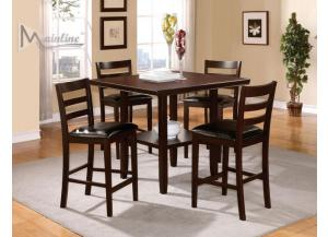 Java 5PC SET: Counter Table And 4 Chairs