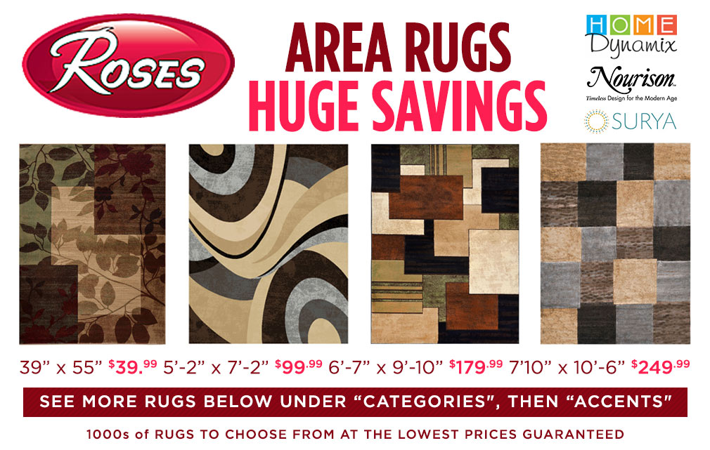 Area Rugs Huge Savings