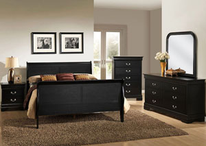 Louis Twin Bed - Black