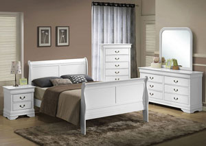 Louis Twin Bed - White