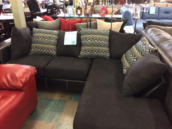 Sectional was $899.00  Now $649.00  Only 1 set left,MORE CLEARANCE