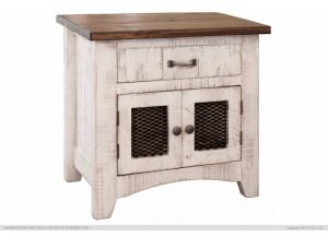 Pueblo White Nightstand,International Furniture Direct